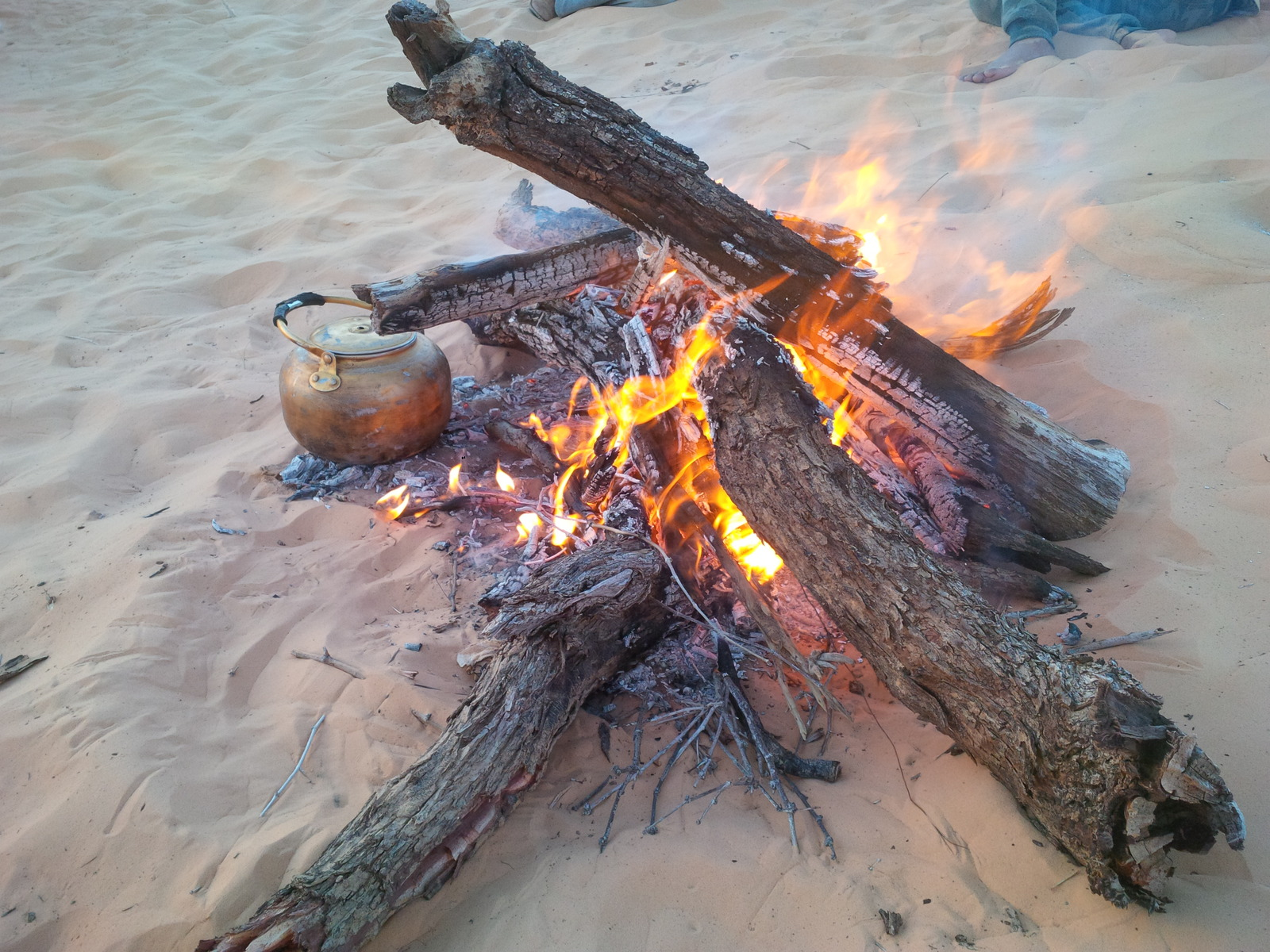 čaj na ohni ...